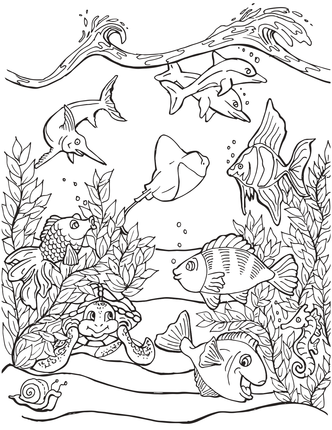 Life Under the Sea Coloring Page